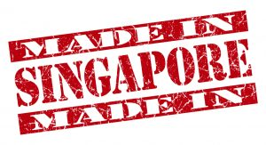made in Singapore grunge red stamp