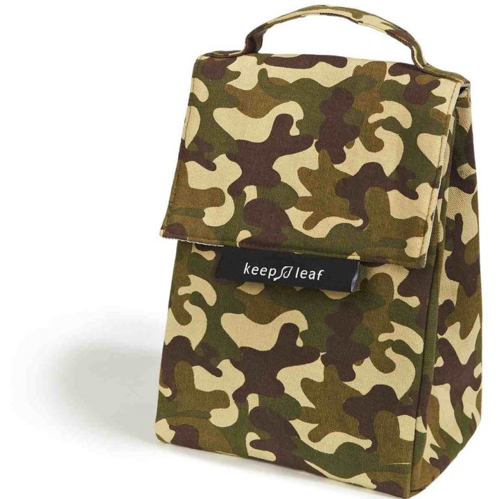Organic Cotton Lunch Bag – Camo