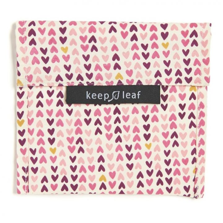 Reusable Snack Bag – Hearts (Size L)