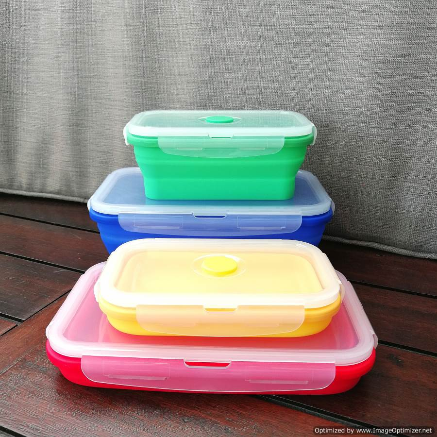 Collapsible Silicone Food Container Large Neis Haus