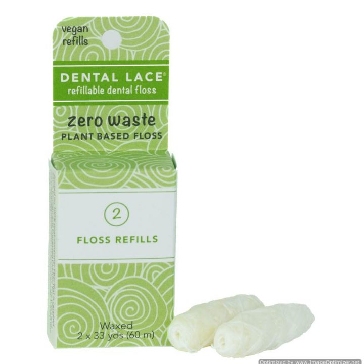 Refillable Vegan Dental Floss – Refill Bag (2 Spools)