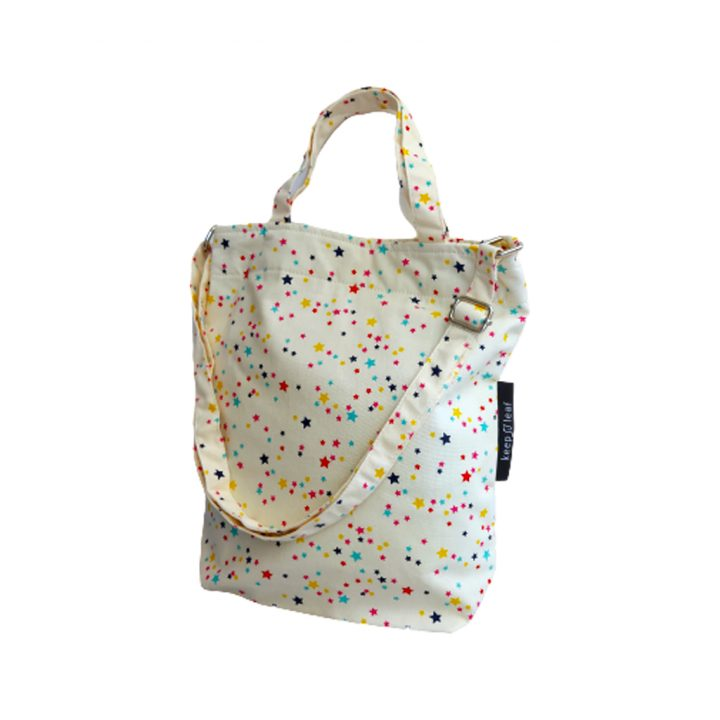 Keep Leaf Organic Cotton Shoulder/Hand Tote – Stars