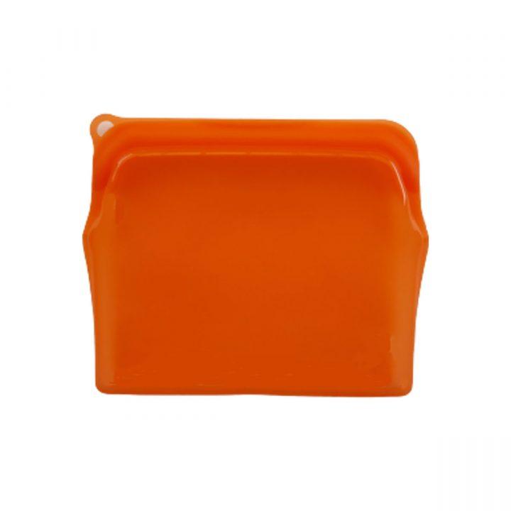 Reusable Silicone Food Bag 470ml Orange