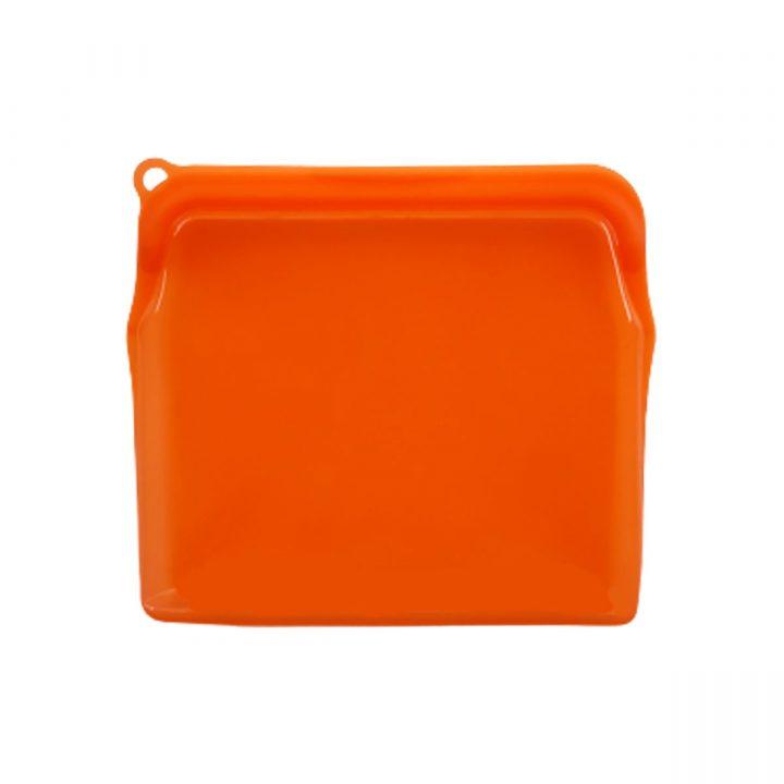 Reusable Silicone Food Bag 900ml Orange